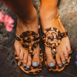 Shoes - Animal print sandals size 8